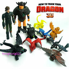 Classic How to Train Your Dragon2 Hiccup Night Fury Stoick PVC Figure Set Gift