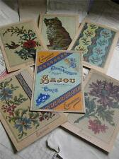 Sajou Set of 6 Post Card Tapestry Charts- Album de Tapisserie 100- Cat & Flowers