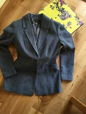 on trend Equestrian Style blue tweed jacket size 12 (38) new