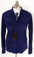New BRIONI Electric Purple Suede Leather 6Btn Shirt Jacket Coat 50 M L NWT $5K