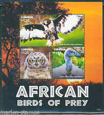 LIBERIA  2015 AFRICAN BIRDS OF PREY  SHEET I  MINT NEVER HINGED