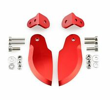 CNC Aluminum Turn Fins Set 35mm x 90mm RED for Large Size RC Boat