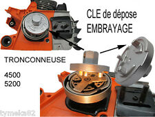 tronconneuse outil cle devisse embrayage acces piece pompe a huile