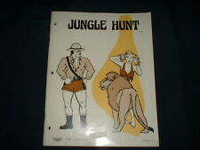 JUNGLE HUNT w/SCHEMATICS-Taito Orig. Manual-L@@K!