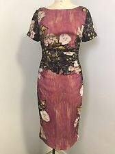 Beautiful Tracy Reese Mauve Floral Multi Color Dress, Size 4, BNWT