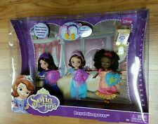 Mattel Disney Sofia The First Royal Sleepover Doll 3-Pack *NIP* Ages 3+ BDH62