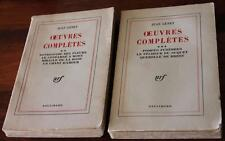 2 x OEUVRES COMPLETE - JEAN GENET S/C - Vintage Collectable