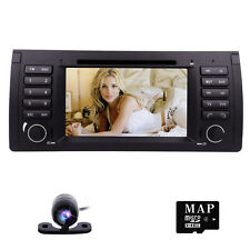 "Car Radio Single 1 DIN 7"" Touch Stereo DVD GPS Navigation System for BMW X5 E53"