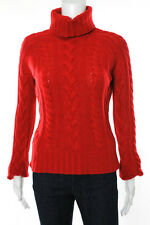 Sutton Studio Red Cashmere Long Sleeve Turtleneck Sweater Top Size M