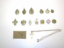 Nice Lot Of Vintage Religious Medals, Necklace & Pin