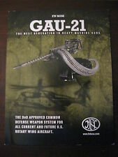 FNH USA GAU-21 Firearms Data Sheet / New