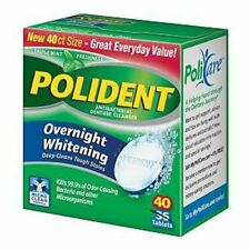 Polident Overnight Whitening, Triple Mint Freshness 40 ea