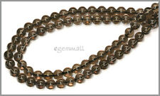 "15.5"" Smoky Quartz Round Beads 6mm #78148"