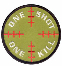 SNIPER ONE SHOT ONE KILL HOOK AND LOOP EMBROIDERED MILITARY PATCH