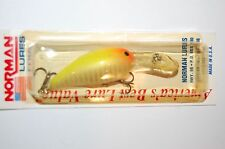 "old rare norman lures deep middle n crankbait 2"" 3/8oz orange yellow shad lure"
