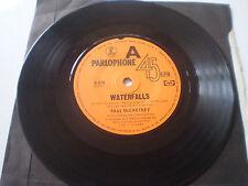 """PAUL McCARTNEY 7""""45 - """"WATERFALLS/CHECK MY MACHINE""""- 1980 PARLOPHONE - AUSTRALIA"""