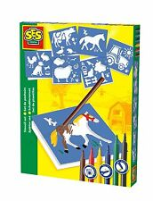 SES Creative Toys-Fattoria Stencil Set-Arts and Crafts-STENCIL ARTE - 00851