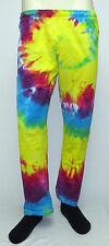 vtg Boxercraft YELLOW NEON TIE DYE MC Hammer Fun Pants S 90s purple workout usa