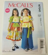 McCalls Pattern M7040 Easy Chelsea Anderson Girls 2-3-4-5 Top Pants Dress