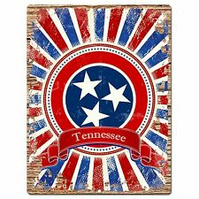 PP1021 USA TENNESSEE State Flag Chic Sign Home Shop Store Room Wall Decor