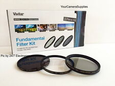 FILTER KIT 62mm UV CPL ND8 (Neutral Density 8, CIRCULAR Polarizing,Ultra-violet)