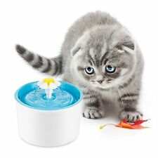 AUTOMATIC CAT DOG KITTEN WATER DRINKING FOUNTAIN PET BOWL DRINK DISH FILTER BLUE