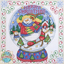 Cross Stitch Kit Design Works Playful Snowmen Merry Christmas Snowglobe #DW5982