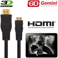 Gemini joytab 9,7 Duo Android Tablet Pc Hdmi Mini A Hdmi Tv 5m Cable largo Cable