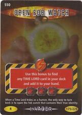 "Doctor Who Battles In Time Invader - Rare ""Open Fob Watch"" Card #550"