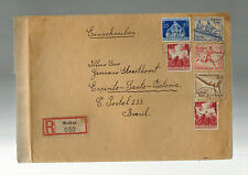 1936 Muskau Germany Olympics Stamps Cover to Brazil