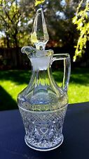 Crystal CAPE COD Glass Oil Cruet Bottle & Stopper 5oz. ( AS-IS Stoper) 160/70