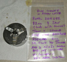 Emco Rohm ZGH-082 Compact 5 & PCTurn Lathe Nose Mount 82mm 3 Jaw Chuck