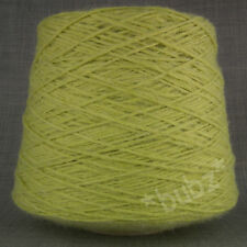 ALPACA WOOL YARN ARAN / DK 500g CONE 10 BALL PALE LIME GREEN DOUBLE KNITTING