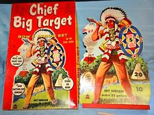 Vtg CHIEF BIG TARGET Bow & Arrow Set by Harett-Gilmar Child's Game Toy