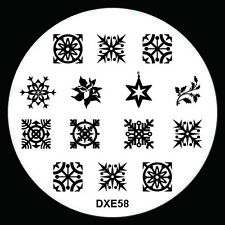 NEW Design Xmas Nail Art Image Stamp Stamping Plate Manicure Template Tool DX-58