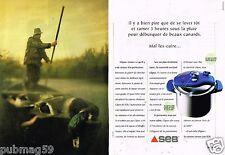 Publicité Advertising 1997 (2 pages) Autocuiseur la cocotte minute SEB