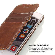 Prodigee Jackit Brown Folio iPhone 7 Case Flip Thin Card Leather Cover Wallet