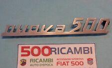 FIAT 500 D/F/L/R SCRITTA NUOVA 500 CROMATA COFANO MOTORE FREGIO COME ORIGINALE