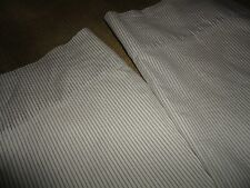 RALPH LAUREN (PAIR) STANDARD PILLOWCASES SMALL SMALL TAUPE STRIPES 100% COTTON