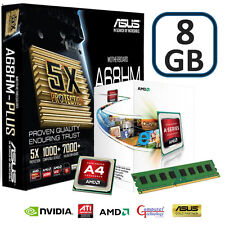 A4-4000 DUAL CORE 8GB DDR3 ASUS a68hm-plus scheda principale con WiFi USB Dongle