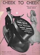 FRED ASTAIRE GINGER ROGERS Cheek to Cheek 1935 Sheet Music TOP HAT