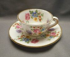 1930s Miniature English Teacup & Saucer - Foley Bone China - Floral Bouquet