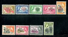 Ghana 5-13, MNH Gold Coast overprinted GHANA INDEPENDENCE 6th MARCH 1957: x20313