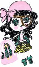 Sequin Patch: Colorful Pirate Girl