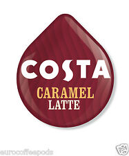 Tassimo Costa Caramel Latte Coffee 24 T Discs 12 Servings Sold Loose