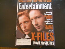 X-Files, David Duchovny, Gillian Anderson - Entertainment Weekly Magazine 1998