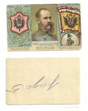 turkish cross cut cigarette tobacco card flag and pennant coat of arms austria