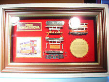 MATCHBOX MODELS OF YESTERYEAR FRAMED WALL MOUNTED MODEL PRESTON TRAM
