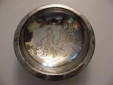 Assiette à Bouillie en Argent Plaqué Le chat botté Silver Silber