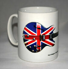 Guitar Mug. Noel Gallagher's 1960's Epiphone Sheraton 'Union Jack' illustration.